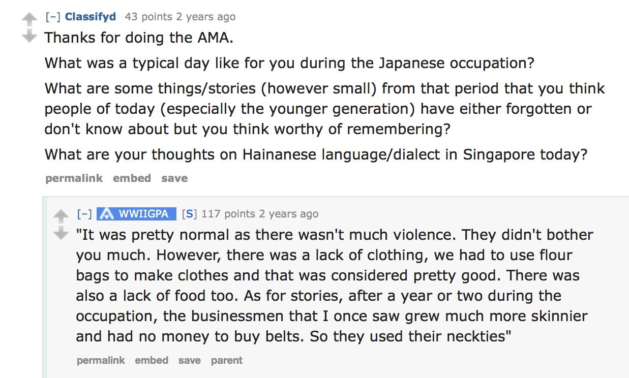 The Best Singapore AMAs on Reddit - JUNK ASIA